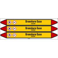 Leidingmerkers: H2S Gas | Duits | Brandbare gassen