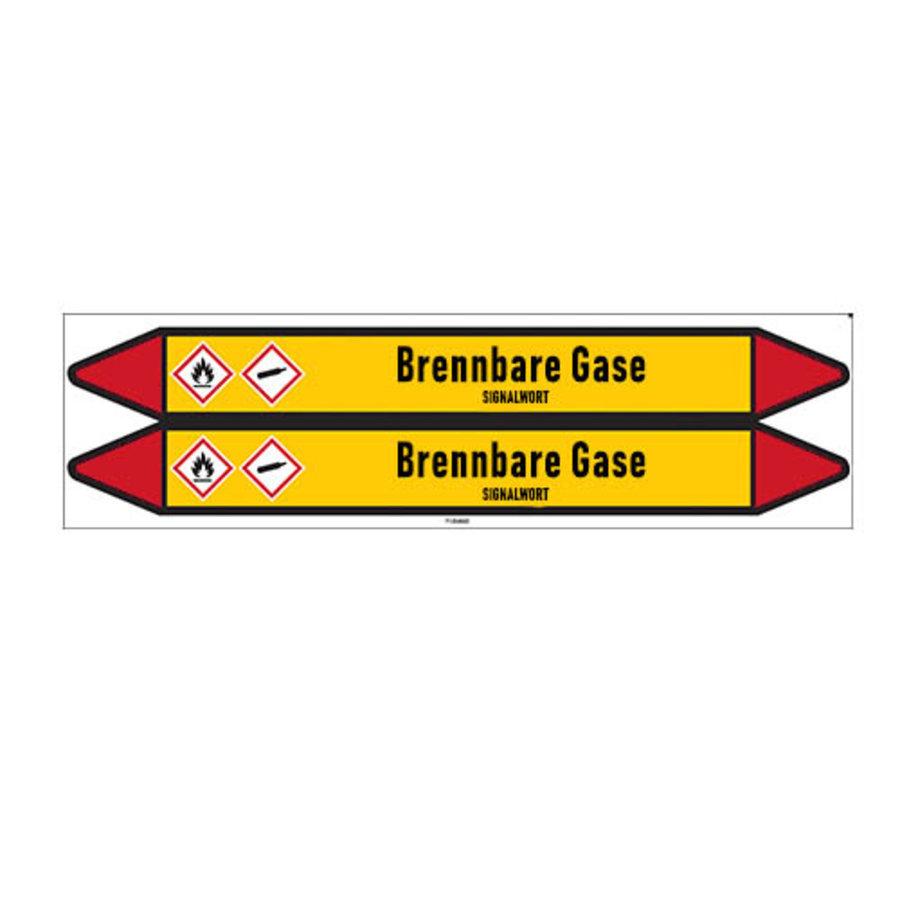 Leidingmerkers: Propan/Butan   Duits   Brandbare gassen