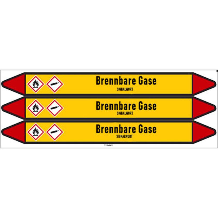 Leidingmerkers: Propangas   Duits   Brandbare gassen