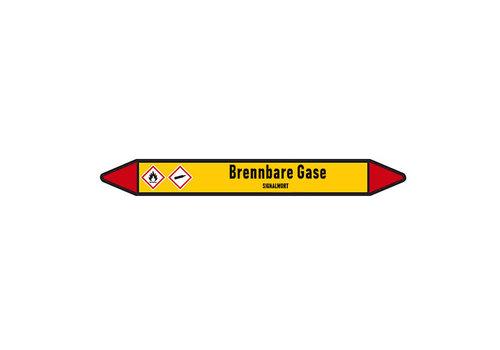 Rohrmarkierer: Propylen Gas | Deutsch | Brennbare Gase