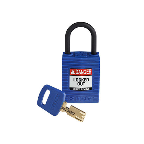 SafeKey Compact nylon veiligheidshangslot blauw 150183