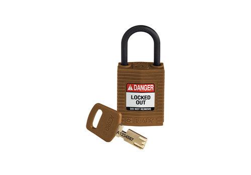 SafeKey Compact nylon safety padlock brown 150187