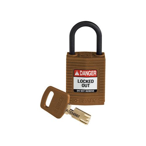 SafeKey Compact nylon veiligheidshangslot bruin 150187