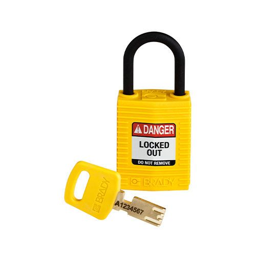 SafeKey Compact nylon veiligheidshangslot geel 150181