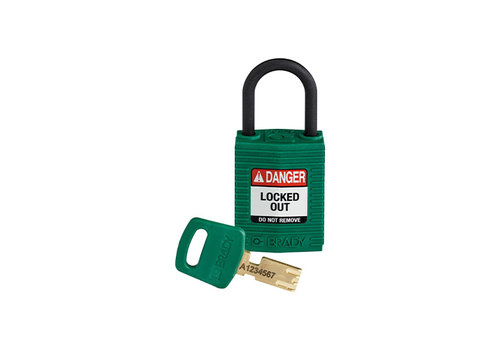 SafeKey Compact nylon safety padlock green 150182