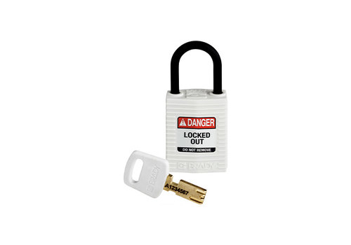 SafeKey Compact nylon safety padlock white 150188