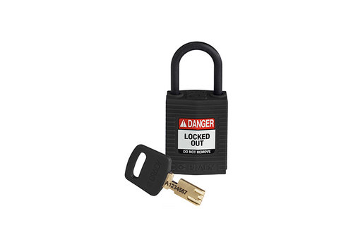 SafeKey Compact nylon safety padlock black 150184