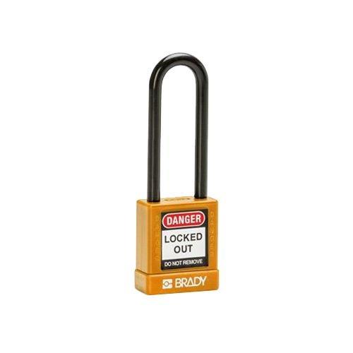 Aluminium Sicherheits-vorhängeschloss mit Kunstoffabdeckung orange 834479