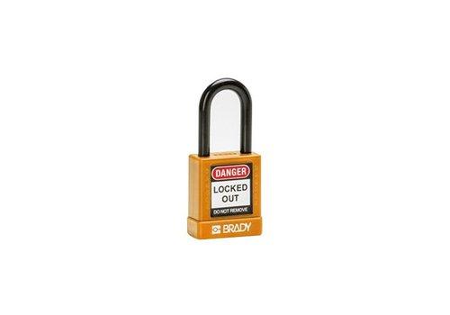 Aluminium Sicherheits-vorhängeschloss mit Kunstoffabdeckung orange 834473