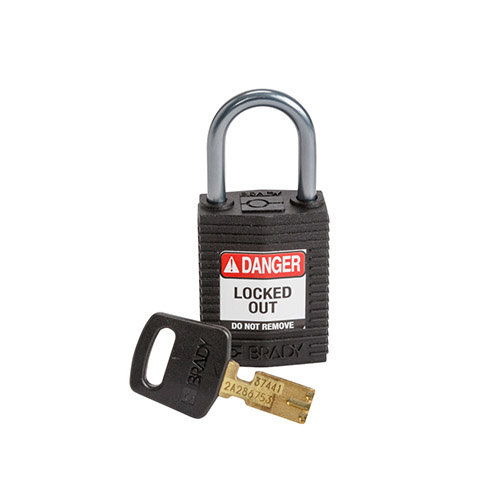 SafeKey Compact nylon veiligheidshangslot aluminium beugel zwart 152159