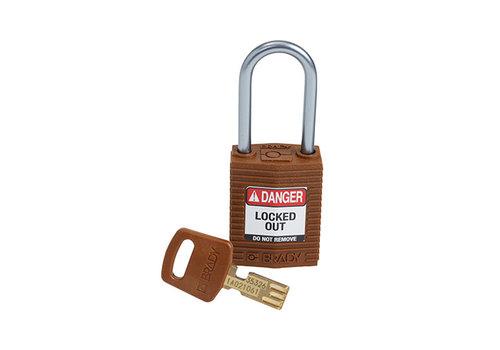 SafeKey Compact nylon safety padlock aluminium shackle brown 151662