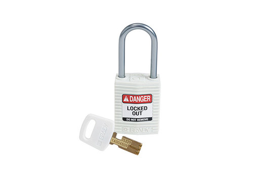 SafeKey Compact nylon veiligheidshangslot aluminium beugel wit 151663