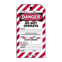 Waarschuwingstag ''DO NOT OPERATE'' 105371