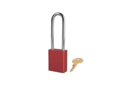 Sicherheitsvorhängeschloss aus eloxiertes Aluminium rot S1107RED