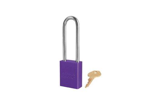 Sicherheitsvorhängeschloss aus eloxiertes Aluminium violett S1107PRP