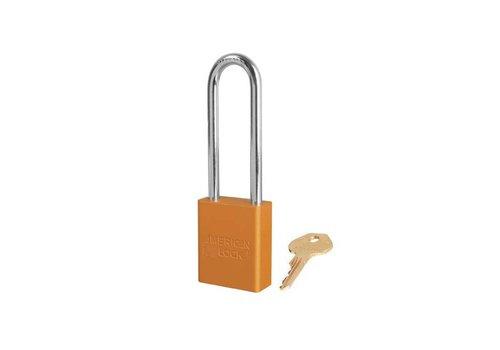 Sicherheitsvorhängeschloss aus eloxiertes Aluminium orange S1107ORJ