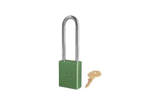 Geanodiseerd aluminium veiligheidshangslot groen S1107GRN