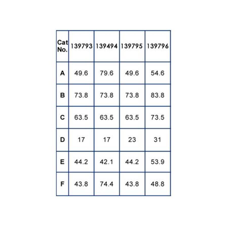 Drukknopvergrendeling 139793-139796