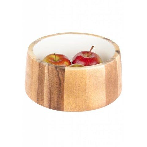 Holzschüssel innen weiß