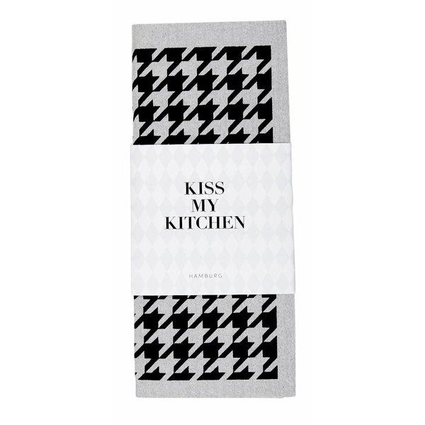 KISS MY KITCHEN Schwammtuch Hahn grau/schwarz