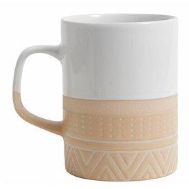 Nordal Becher weiß/sand aus Keramik
