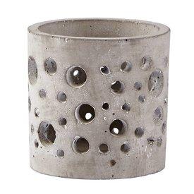 KJ Collection Teelichthalter  grau aus Zement