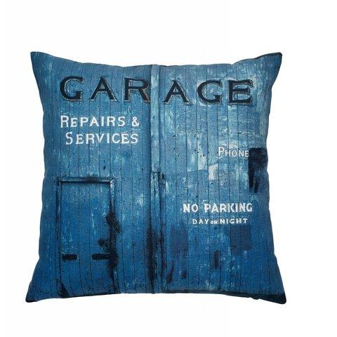 Kissen Garage blau