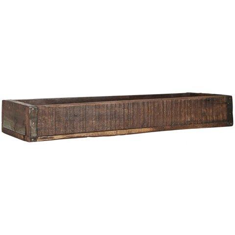 Langer Holzkasten  antik aus Indien