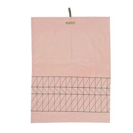 "Bloomingville Geschirrtuch ""Carina"" rosa aus Baumwolle"