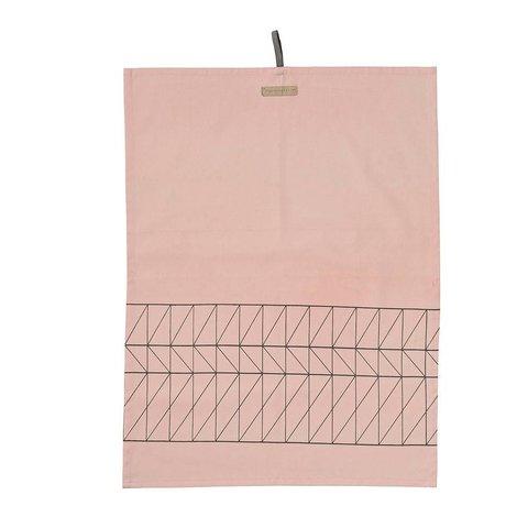 """Geschirrtuch """"Carina"""" rosa aus Baumwolle"""