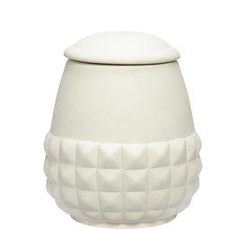 Hübsch Interior Dose weiß aus Keramik
