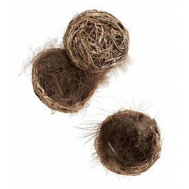 Madam Stoltz Nest 3er Set braun
