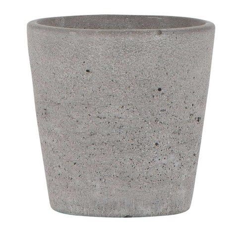 Übertopf grau aus Beton