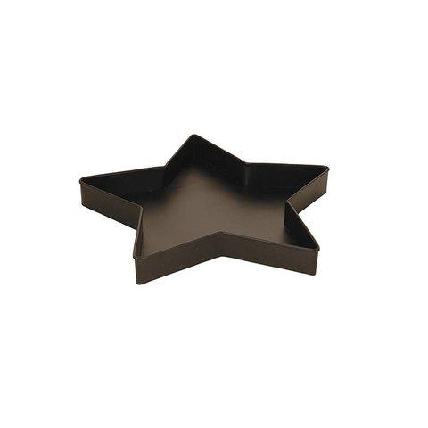 Tablett Stern schwarz aus Metall