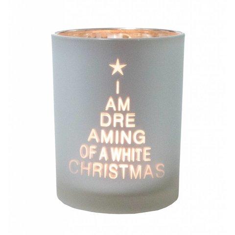 """Teelichthalter """"I'm dreaming..."""" aus Glas"""