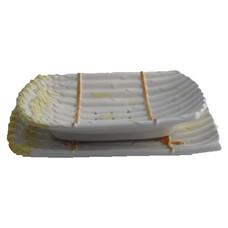 Schaal + onderschaal asperge wit 32cm