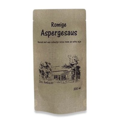 Romige ambachtelijke aspergesaus.