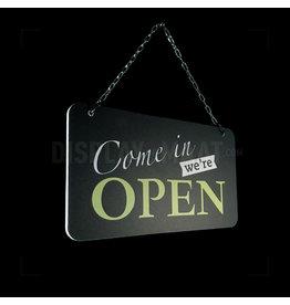 Open/closed bordje lime / oranje