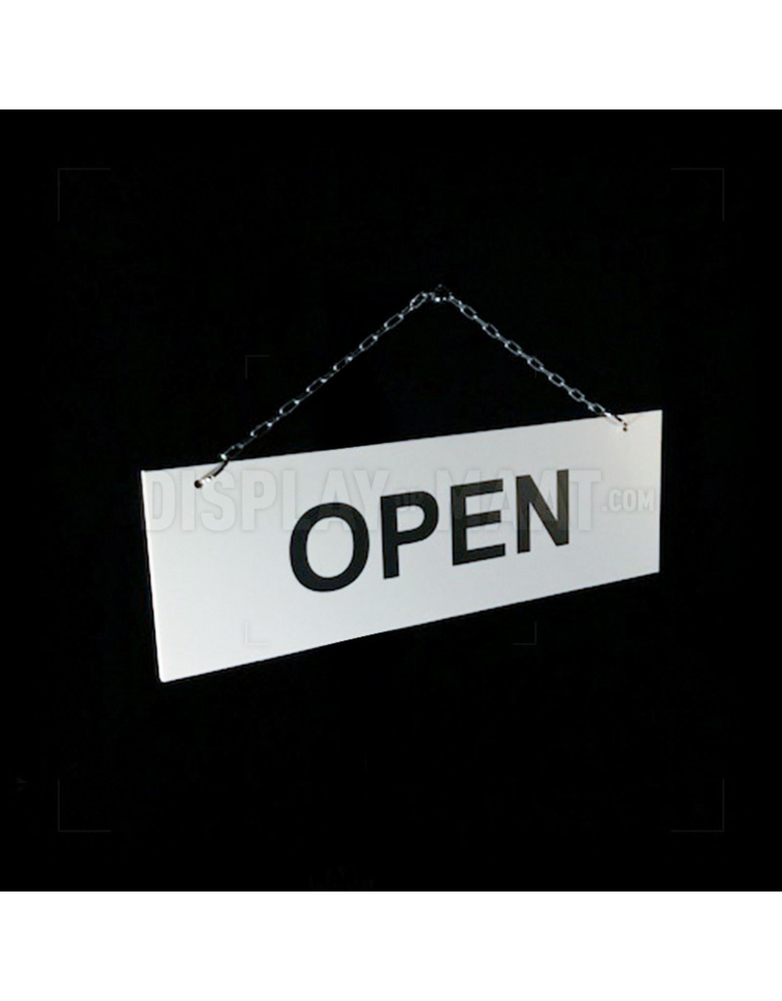 Open/gesloten bordje rechthoek wit