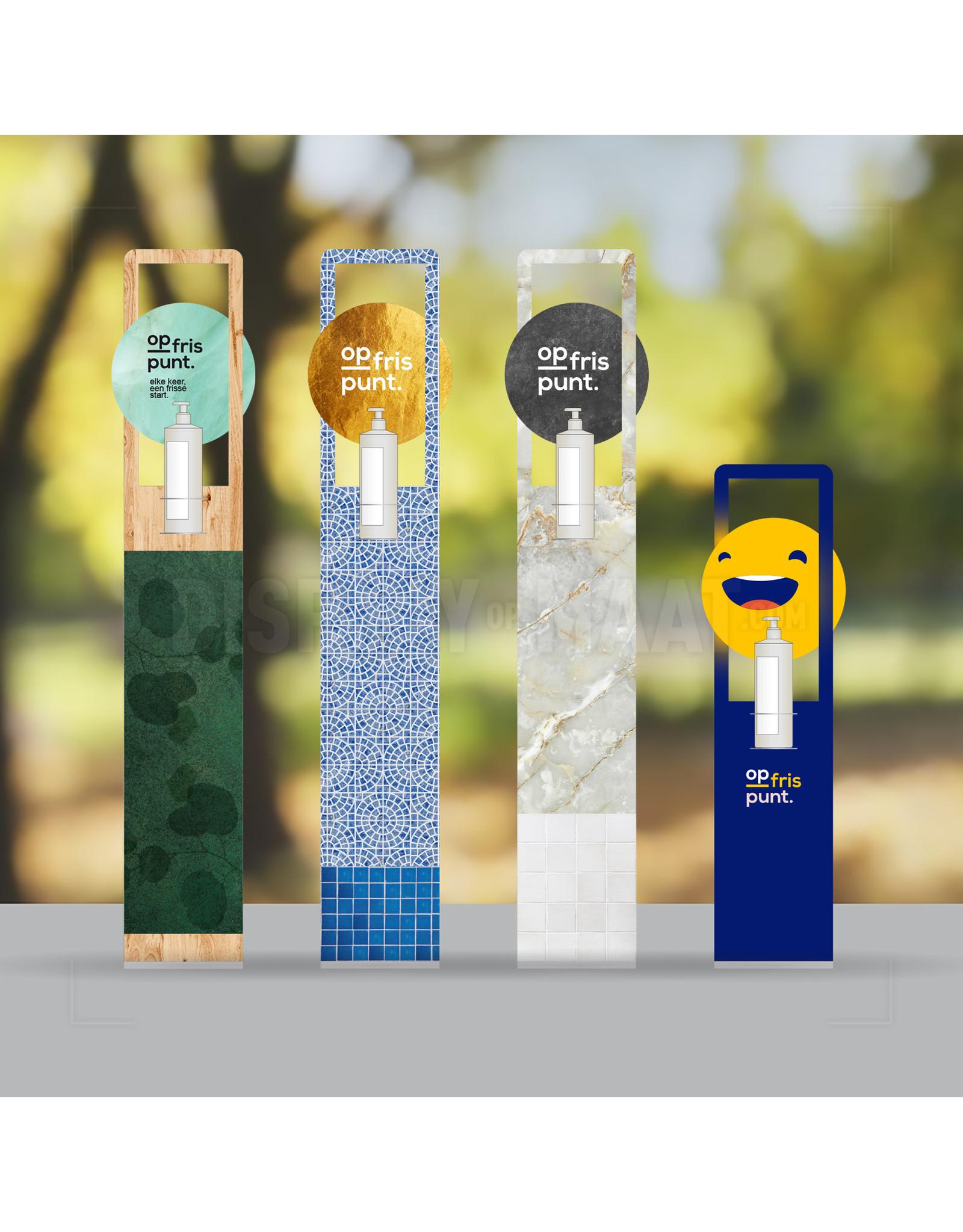 Op Maat desinfectie display incl. 1000ml handgel (70% Alcohol)