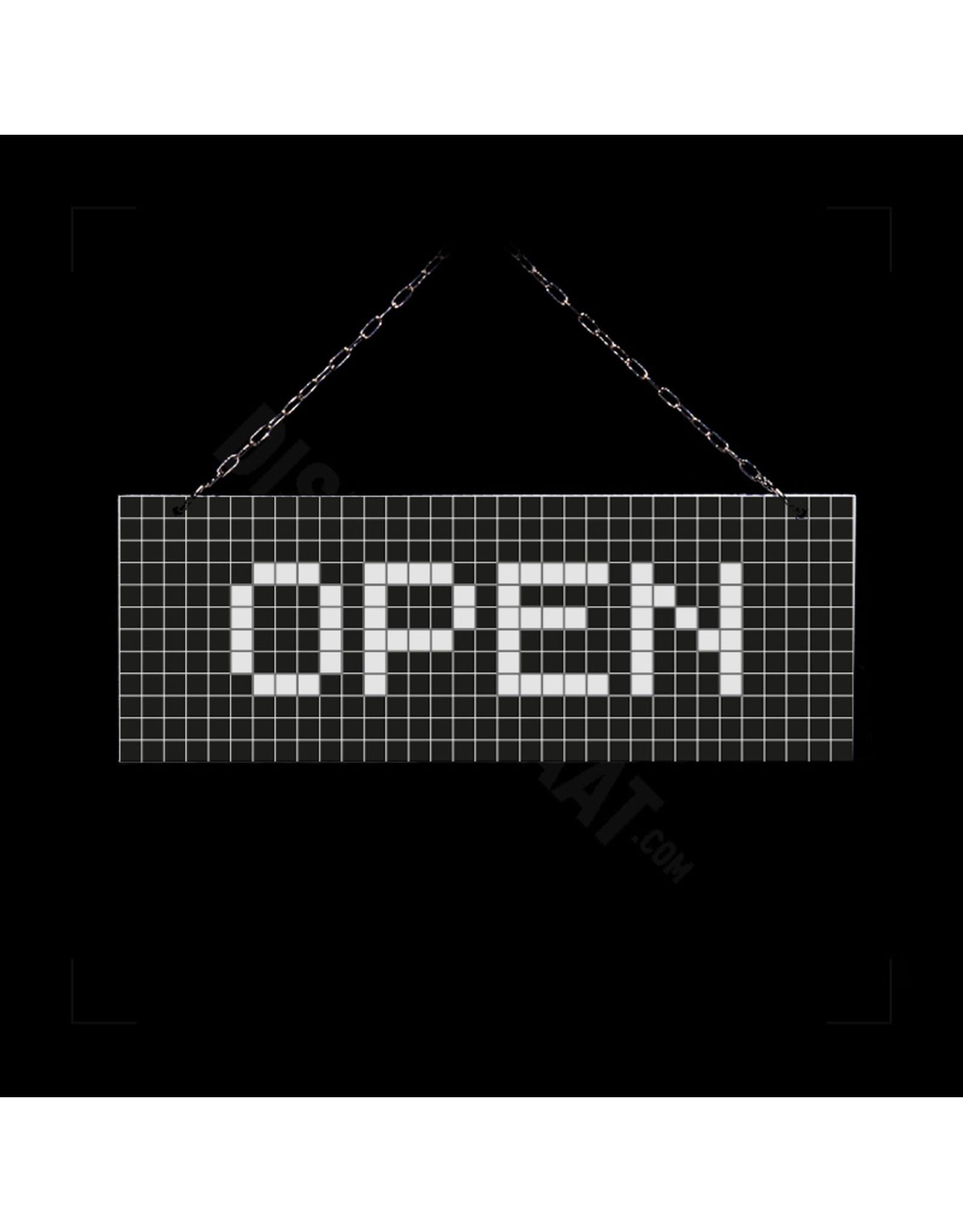 Open/gesloten bordje zwart geblokt