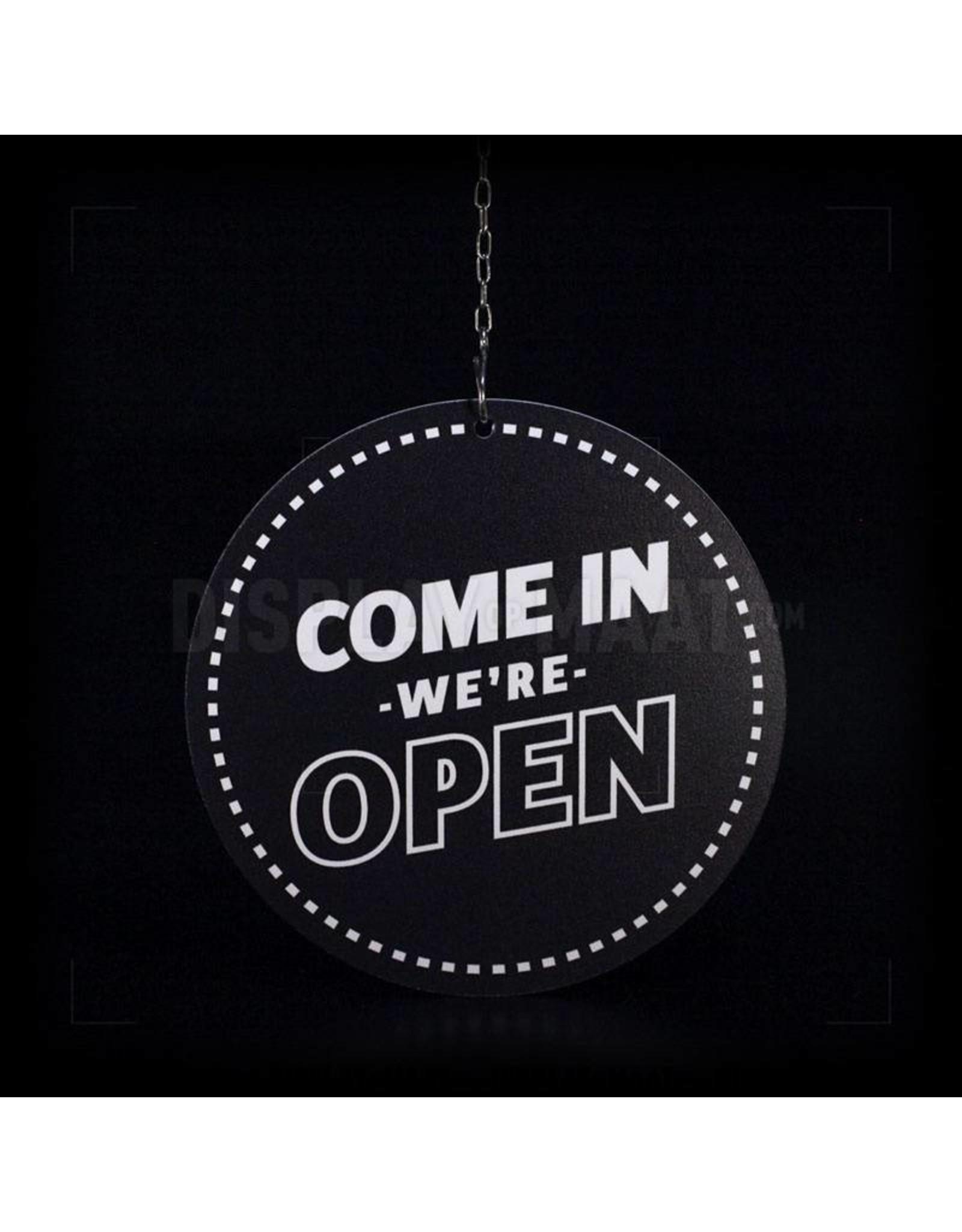 Open / Closed bordje rond