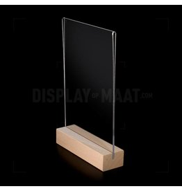 Tafelstandaard met luxe houten voet