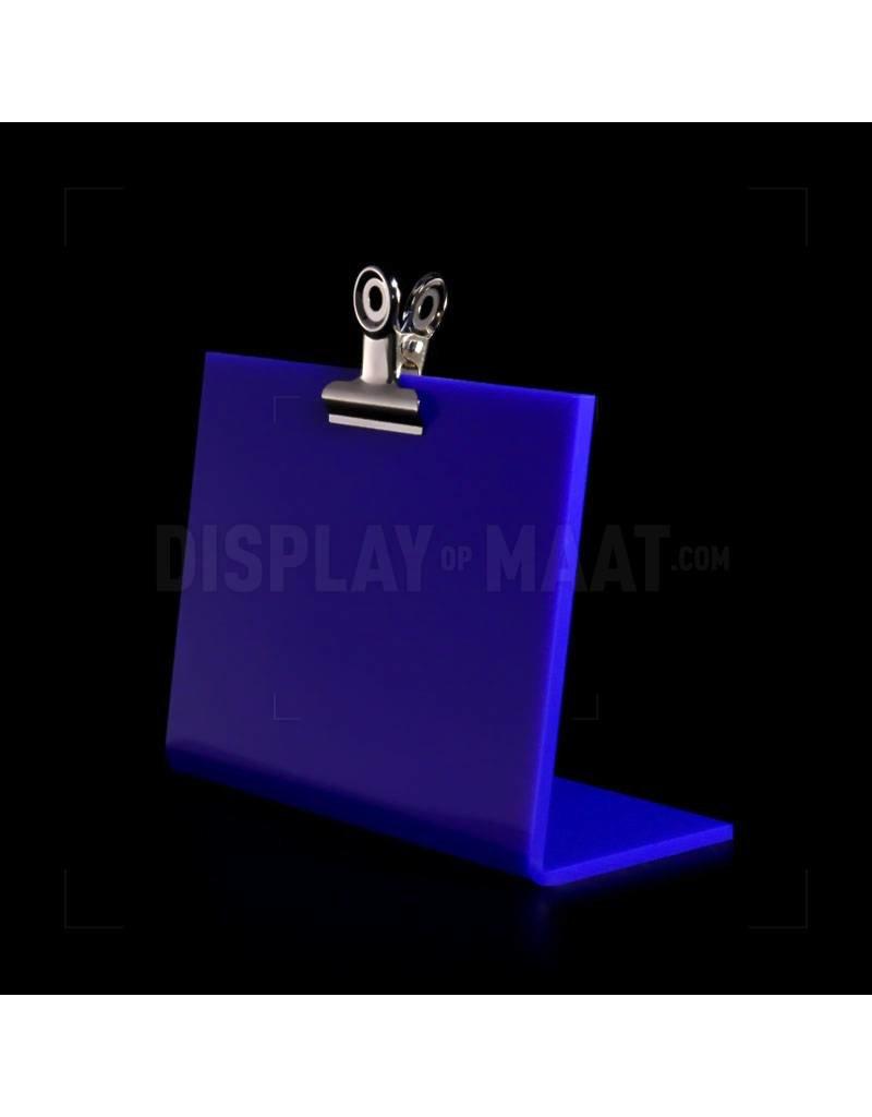Gekleurde L-standaard met klem