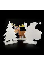 3 delig - decoratie figuren pakket