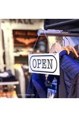 Open/closed bordje rechthoek
