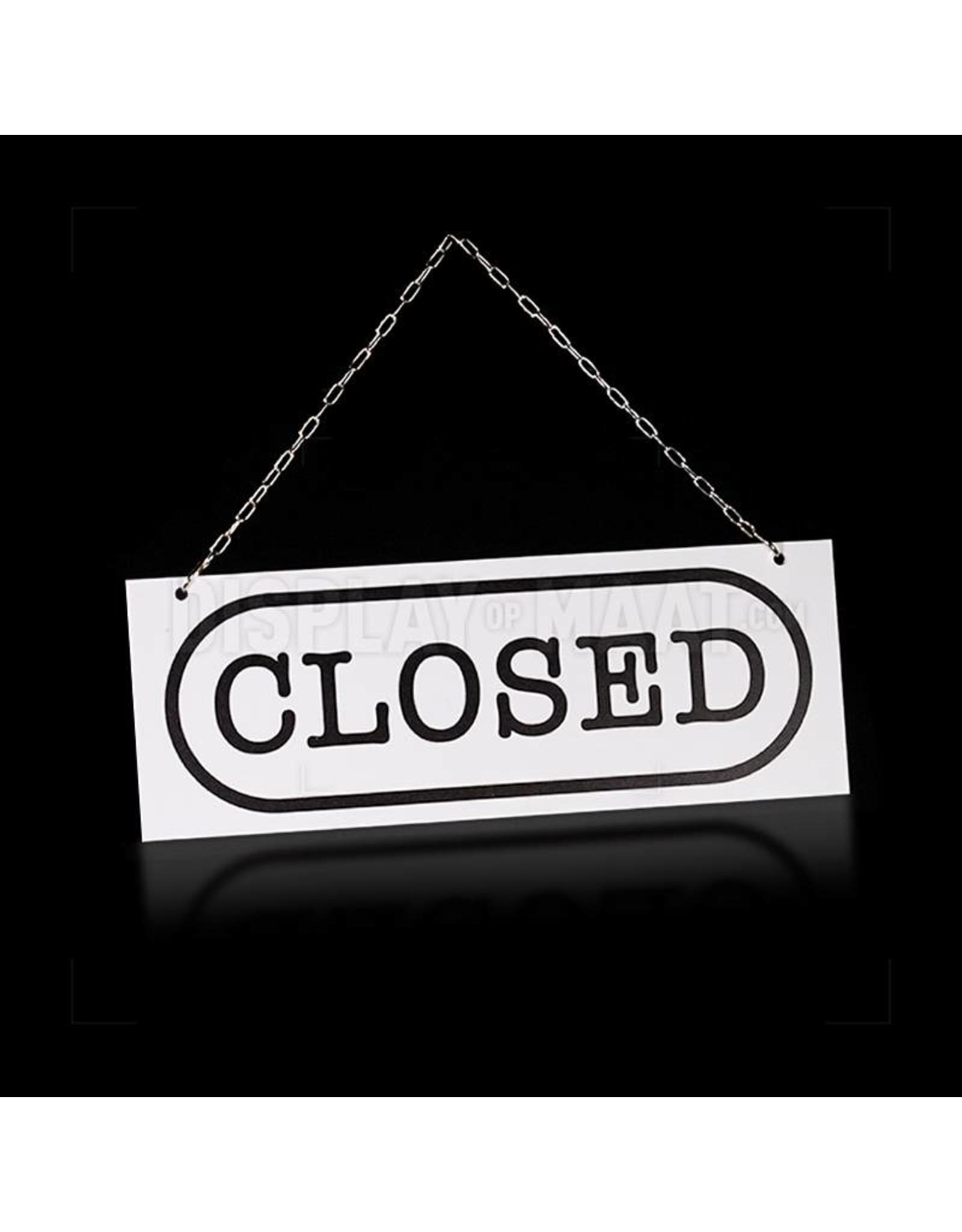 Welcome/closed bordje rechthoek