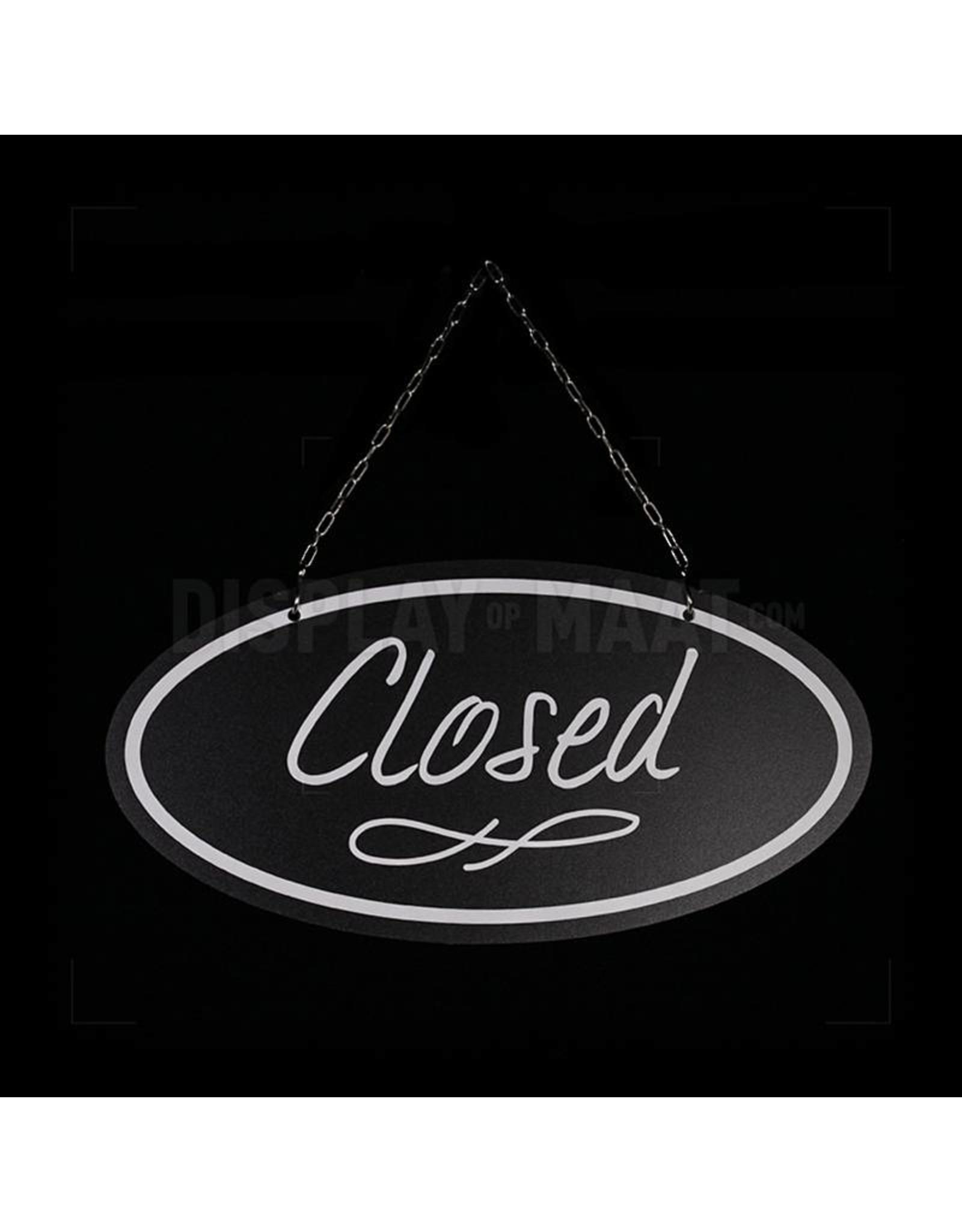 Welcome/closed bordje Chalk