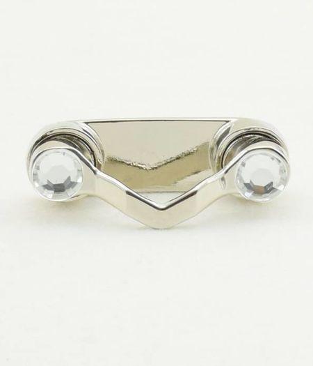 Bestel 1 BrilClip® - NIEUW - zilverkleurig met strass-steentjes € 12,95 ipv € 13,95