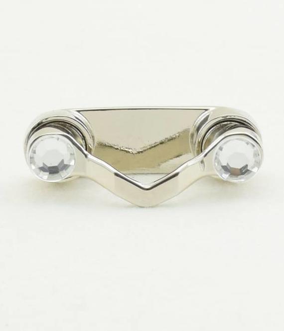 Bestel 1 BrilClip® - NIEUW - zilverkleurig met strass-steentjes - € 12,95 ipv € 13,95